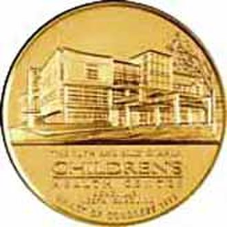 Ruth Graham - 1996 Congressional Gold Medal coin shows Ruth and Billy Graham in profile (obverse); the Ruth and Billy Graham Children's Health Center in Asheville, North Carolina (reverse).