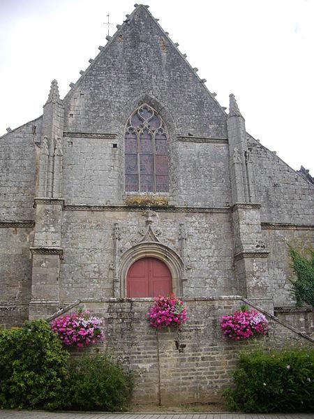 Saint Peter church of Sérent (Morbihan, France). Facade