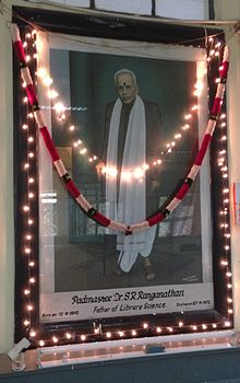 S. R. Ranganathan's Portrait at City Central Library, Hyderabad, Chennai