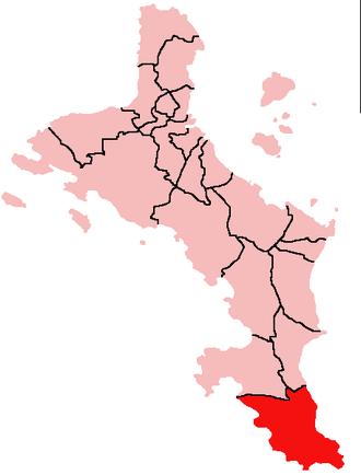 Takamaka, Seychelles - Location of Takamaka District on Mahé Island, Seychelles