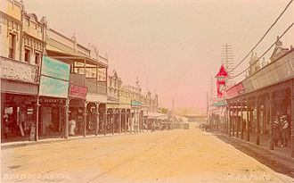 Burwood, New South Wales - Historical view of Burwood Road