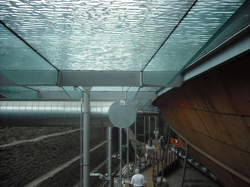 SS Great Britain, port hull below glass waterline