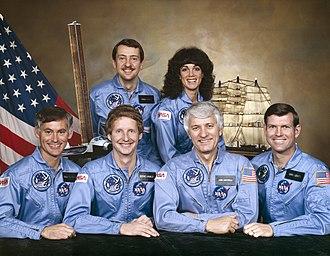 STS-41-D - Image: STS 41 D crew