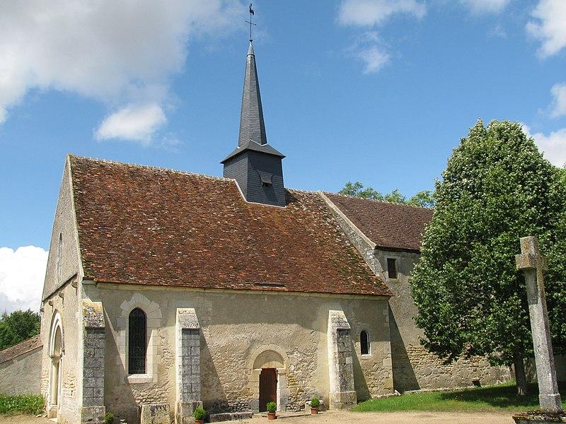 Église saint-Martin de Bulcy, Nièvre, France.