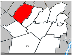 Location within Les Jardins-de-Napierville RCM