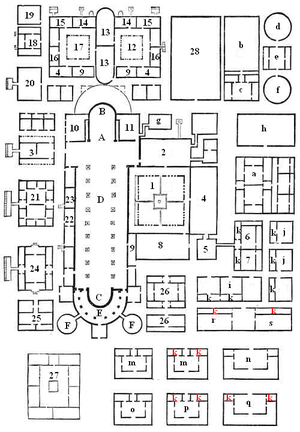 Cenobitic monasticism - The groundplan of the monastery of St. Gall in Switzerland, providing for all of the needs of the monks within the confines of the monastery walls
