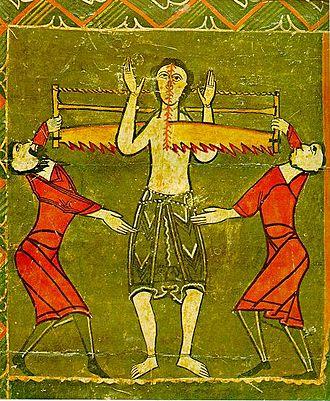Judas Cyriacus - Martyrdom of St. Quirico. Barcelona, 12th century