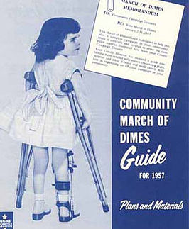 Poster die oproept tot de March of Dimes