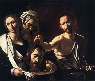 Low-key photography - Salome with the Head of John the Baptist, Caravaggio