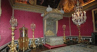 Rose (color) - The Salon of Mercury is part of the Grand appartement du roi in the Versailles Palace and is decorated with rose colored wallpaper.