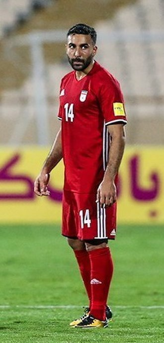 Saman Ghoddos - Ghoddos on his debut with Iran national football team in 2017