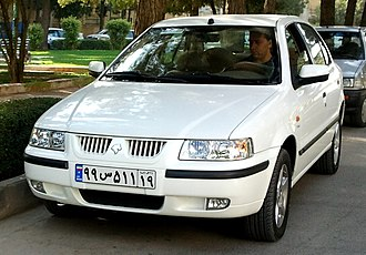 "Automotive industry in Iran - The IKCO Samand is an Iranian-made car and titled first ""national car"" of Iran."
