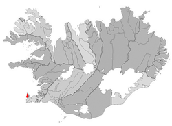Location of the Municipality of Sandgerði, Iceland