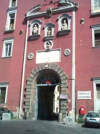 """Rione Sanità - Facade of """"Ospedale San Gennaro"""""""