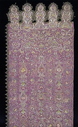 Sash - Elaborately emboroidered sash from 1635-1642.
