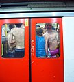 Saying Goodbye at Baker Street Tube Station (2539879791).jpg