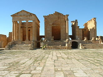 Rashidun Caliphate - The Roman ruins of Sbeitla (Sufetula)