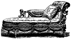 Chaise longue - An 18th-century rococo chaise longue
