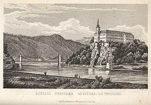 Děčín - Tetschen Castle, 1855