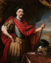 Portrait of John III Sobieski in Roman costume.