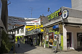 Schwabing - 2011 before the demolition of the Schwabinger 7 bar and redevelopment of the area shown in the photograph