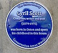 Scott (Cyril) plaque at The Laurels, Oxton.jpg