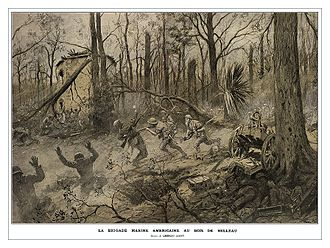 Battle of Belleau Wood - U.S. Marines in Belleau Wood (1918).