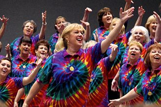 Sweet Adelines International competition - Reigning chorus champions Scottsdale performing in 2011, wearing their 2010 championship medals