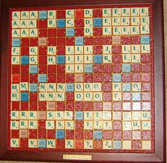 Scrabble letter distributions - A complete French Scrabble set