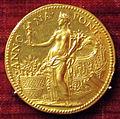 Scuola romana, medaglia di pio IV, annona, oro.JPG