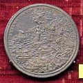 Scuola romana, medaglia di pio V, battaglia di lepanto con angelo, 1571, argento.JPG