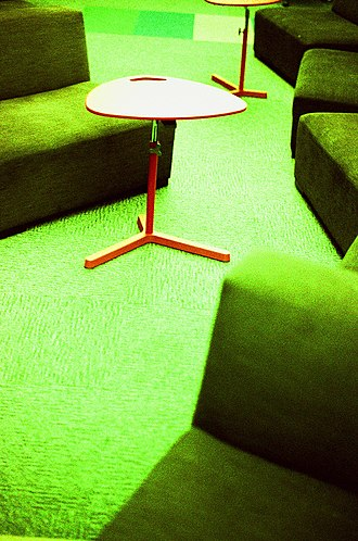 Cross processing - Image: Seats and tables at Wikimedia Foundation office, cross processed