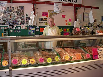Columbia City, Seattle - Butcher shop, Columbia City, 2007