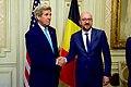 Secretary Kerry Shakes Hands With Belgian Prime Minister Michel in Brussels, Belgium (25956988801).jpg