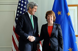 Catherine Ashton - U.S. Secretary of State John Kerry with Ashton, Munich, 1 February 2014