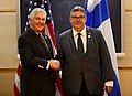 Secretary Tillerson Shakes Hands With Finnish Foreign Minister Soini Before Their Meeting in Fairbanks (34212680480).jpg