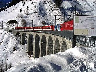 Tujetsch - Bugnei rail bridge near Sedrun