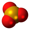 Space-filling model of the monomer as found in the gas phase