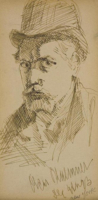 Oscar Florianus Bluemner - 1903 self-portrait