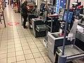 Self-service checkout at supermarket in Bergen, Norway (selvbetjente kasser, selvskanning i Meny i Bergen Storsenter) 2017-10-23 b.jpg
