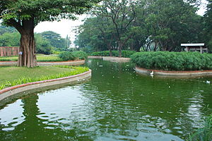 Semmozhi Poonga - Artificial pond at the garden