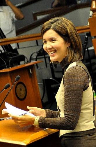 Pia Cayetano - Cayetano at the Senate session in 2010