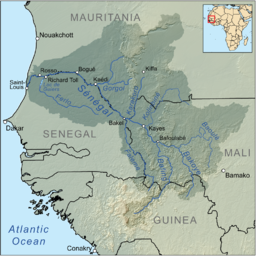 Map of the Sénégal River drainage basin.