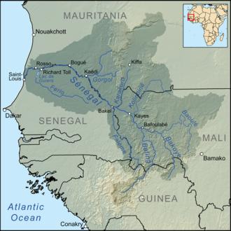Falémé River - Image: Senegalrivermap