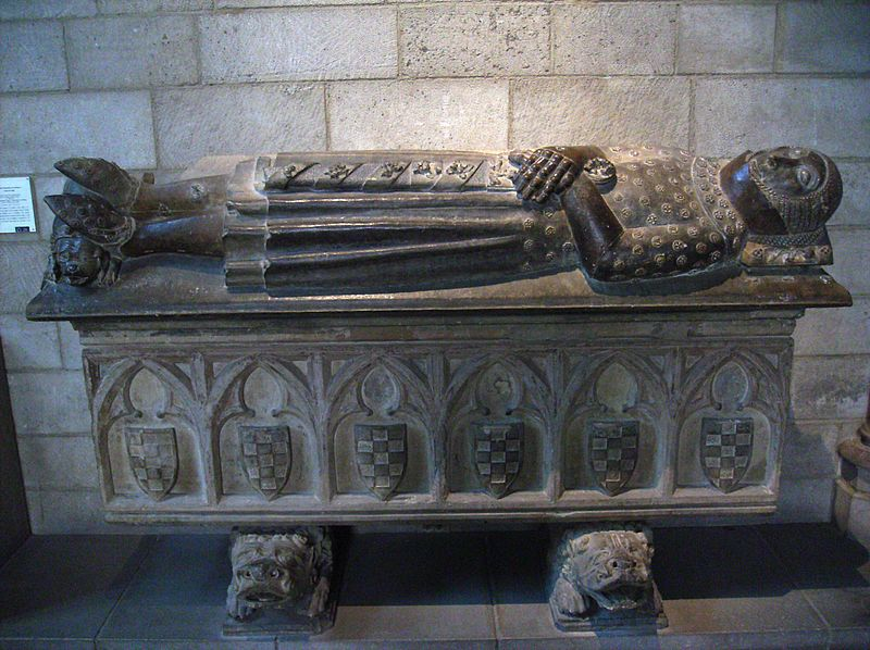 Sepulcro de Ermengol X en The Cloisters, Nueva York.