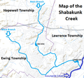 Shabakunk Creek map.png