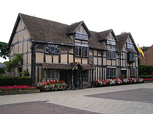 Stratford's Historic Spine - Shakespeare's Birthplace, along the route of the Historic Spine