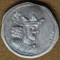 Shapur II Sassanid silver coin.JPG