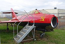 Shenyang J-5 (MiG-17 Fresco), owned by Bill Reesman, view 1 - Oregon Air and Space Museum - Eugene, Oregon - DSC09778.jpg