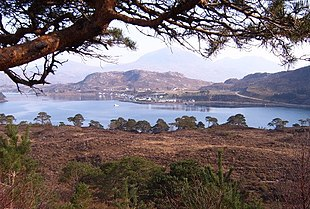 """Shieldaig, viewed from the road to <a href=""""http://search.lycos.com/web/?_z=0&q=%22Applecross%22"""">Applecross</a>"""